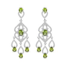 Top Grade Princess Cut CZ Chandelier Earrings Fashion Dangle Long Earrings For Women Party Water Drop Earring Female Jewelry(China)