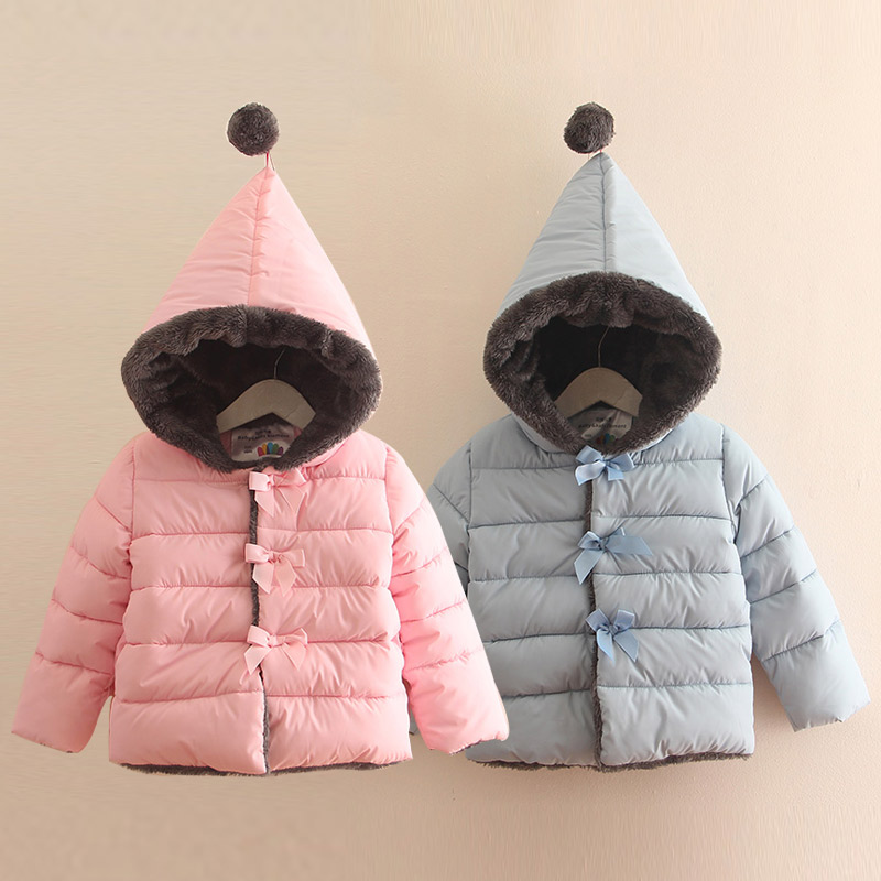 Baby girl cotton-padded jacket 2017 winter  children's clothing child plus velvet thickening outerwear Kids Boys Girls Hooded children winter coats jacket baby boys warm outerwear thickening outdoors kids snow proof coat parkas cotton padded clothes