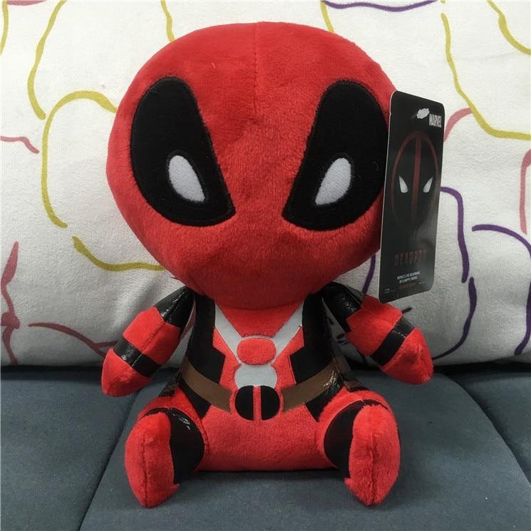 Popular <font><b>Movie</b></font> Q <font><b>Version</b></font> 20cm Deadpool Funko Pop X-man <font><b>Spiderman</b></font> With Tags Plush Soft Doll Animal Stuffed Toy For Kids Baby Gifts
