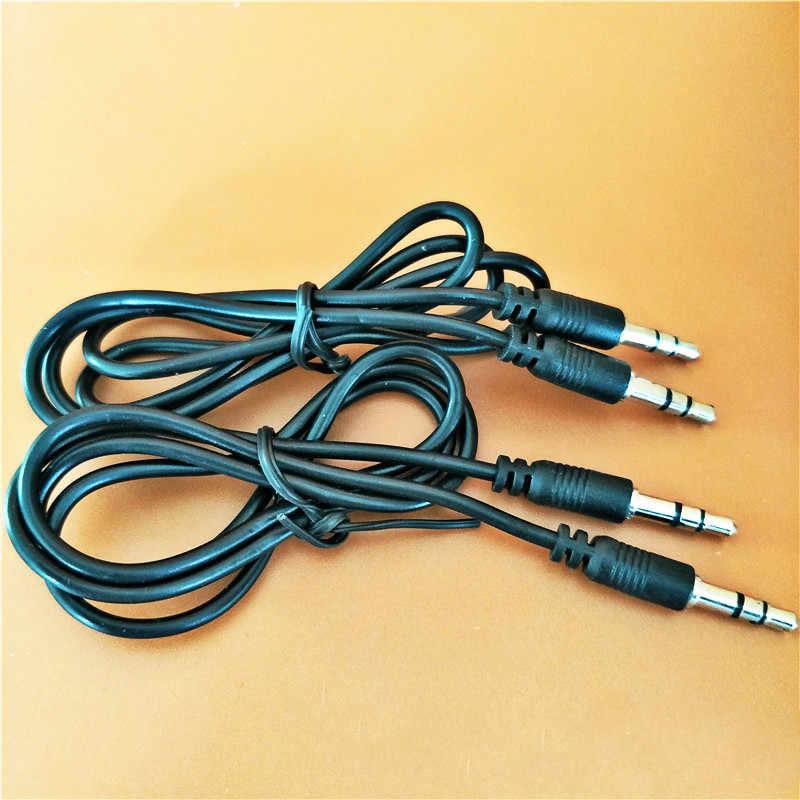 3.5mm Jack wtyczka do kabla Audio 3.5 Mm męski na męski Audio przewód AUX dla Samsung S9 uwaga 10 samochodów zestaw słuchawkowy z głośnikiem linia drutu przewód Aux