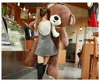 Огромный коричневые плюшевые мишка игрушка большая любовь шарф медведь кукла подарок около 180 см