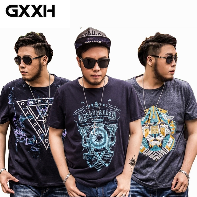 6d3d248e522 GXXH Oversized Men Store Large Size Men s Short Sleeves Printed T Shirts  Male Loose Fat Guy