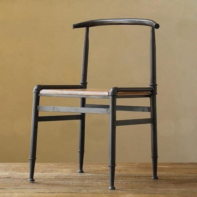 Nordic paese americano in ferro battuto sedie, sgabelli da bar in ...