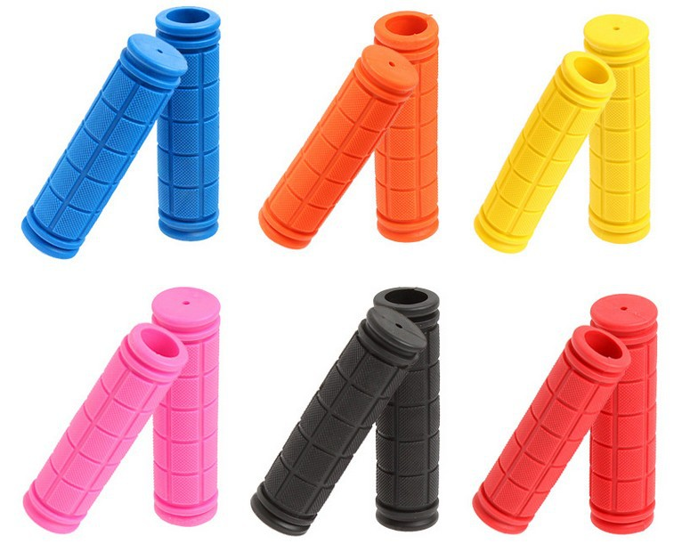 H304 Free shipping color outdoor bicycle handlebar sets of rubber font b tartan b font bicycle
