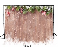 Wooden Wall Winter Snow Photo Backdrops Vinyl Vintage Photography Background Baby Children 5x7ft