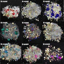 QL Crystal 1 Box Rhinestones For Sexy fashion Nails 3D Crystal Stones For  Nail Art Decorations 2001ba8b4483
