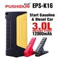 PUSHIDUN EPS-K16 Портативный Аккумулятор Скачок Стартер Зарядное Устройство для Автомобиля, начиная Молоток Безопасности Батареи Пусковое Устройство для Автомобиля