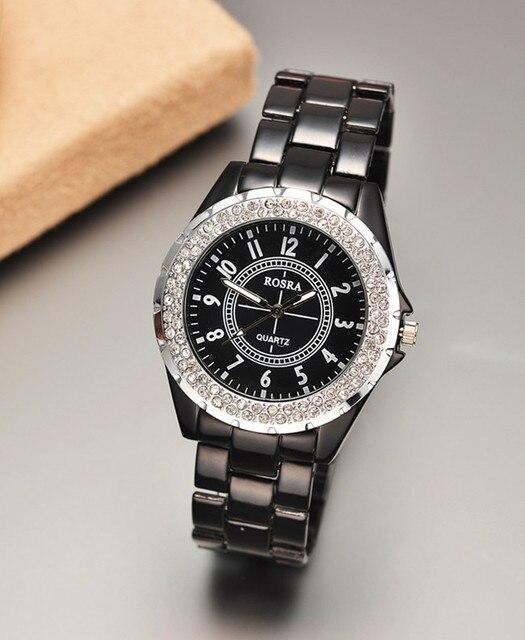 Top Brand Rosra Watches Luxury Women Watches Rhinestone Watches Women White Female Watch Ladies Watches Clock dames horloges