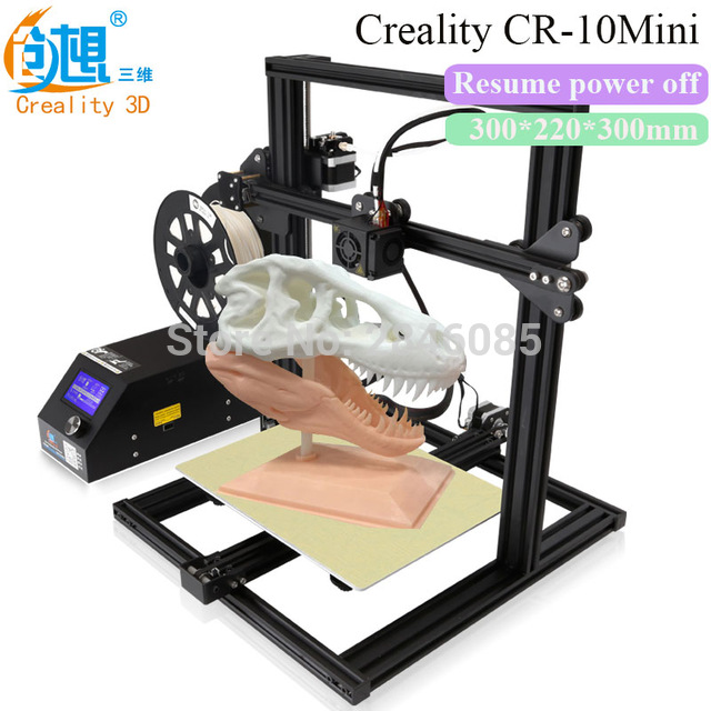 Filament Monitoring Alarm Creality CR-10 Mini 3D Printer Large Prusa I3 Kit DIY 300*220*300mm Desktop Education 3 D Printer DIY flsun 3d printer big pulley kossel 3d printer with one roll filament sd card fast shipping
