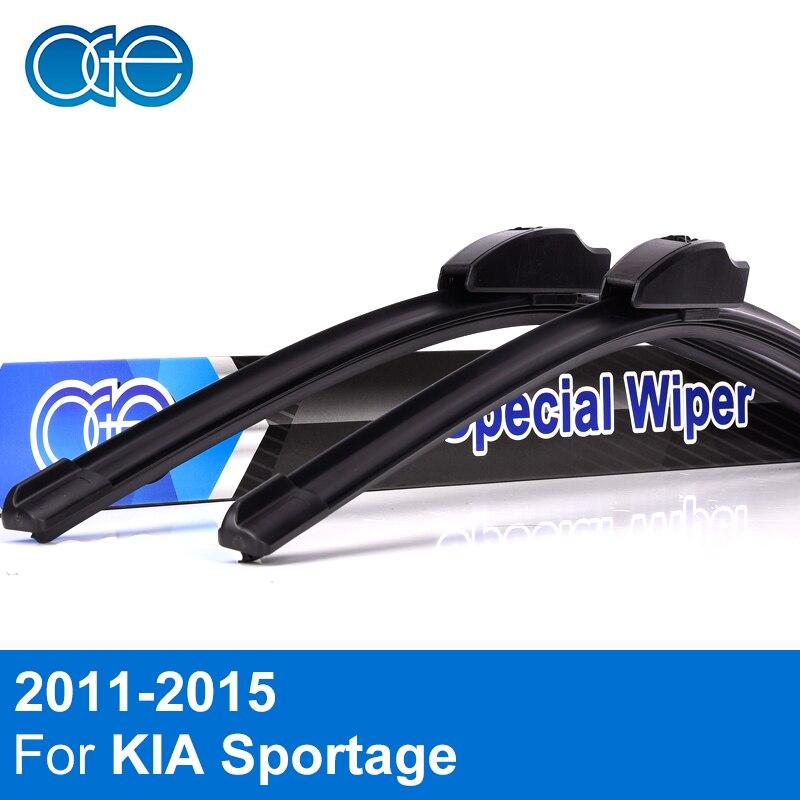 Combo Silicone Rubber Front And Rear Wiper Blades For KIA Sportage 2011 2012 2013 2014 Windscreen