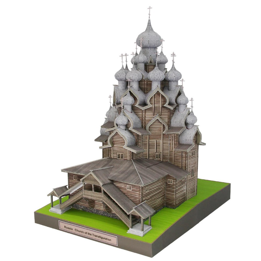 DIY Russia Church Of The Transfiguration Craft Paper Model Architecture 3D  DIY Education Toys Handmade Adult Puzzle Game