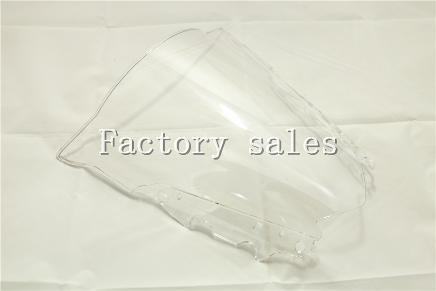 For Yamaha YZF R25 R3 2013 2014 2015 2016 2017 White Windshield WindScreen Double Bubble 13 14 15 16 R 25 3