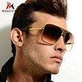 Meguste золото негабаритных очки рамки мужчины известная марка дизайнер. роскошный открытый gafas de sol хомбре вождения солнцезащитные очки uv400.