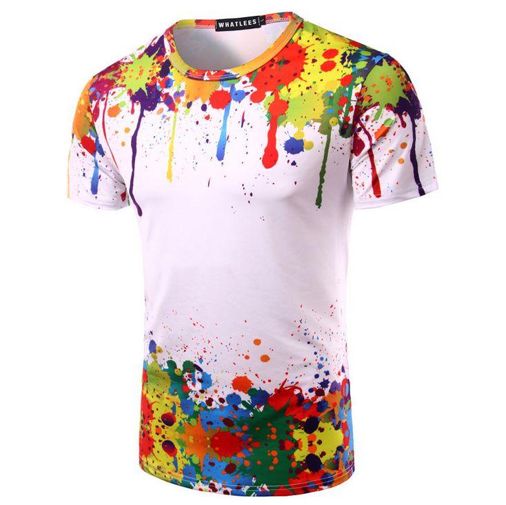 finest selection 92064 8ff32 Splash Inchiostro T Shirt Uomo Colorato Stampato Divertenti ...