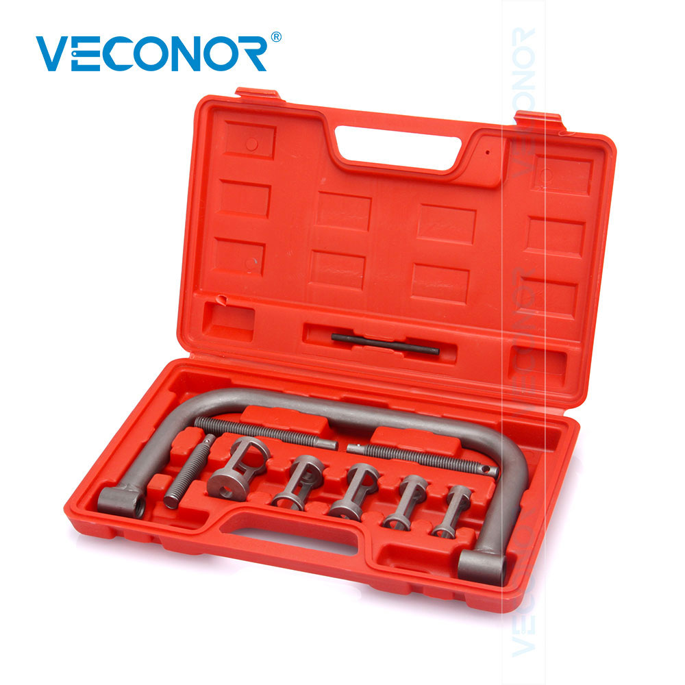 VECONOR 10PCS 5 Pusher Size Valve Spring Compressor Installer Removal Tools Kit Oil Seal Disassembly Tool Set For Car Motorcycle