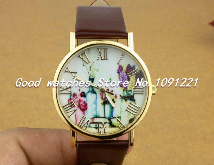 Shabby Chic Floral Watch Original Watches Leather Women Watches