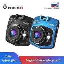 Podofo A1 мини Автомобильный видеорегистратор камера Full HD 1080P видеорегистратор ночное видение g-сенсор Carcam Dashcam