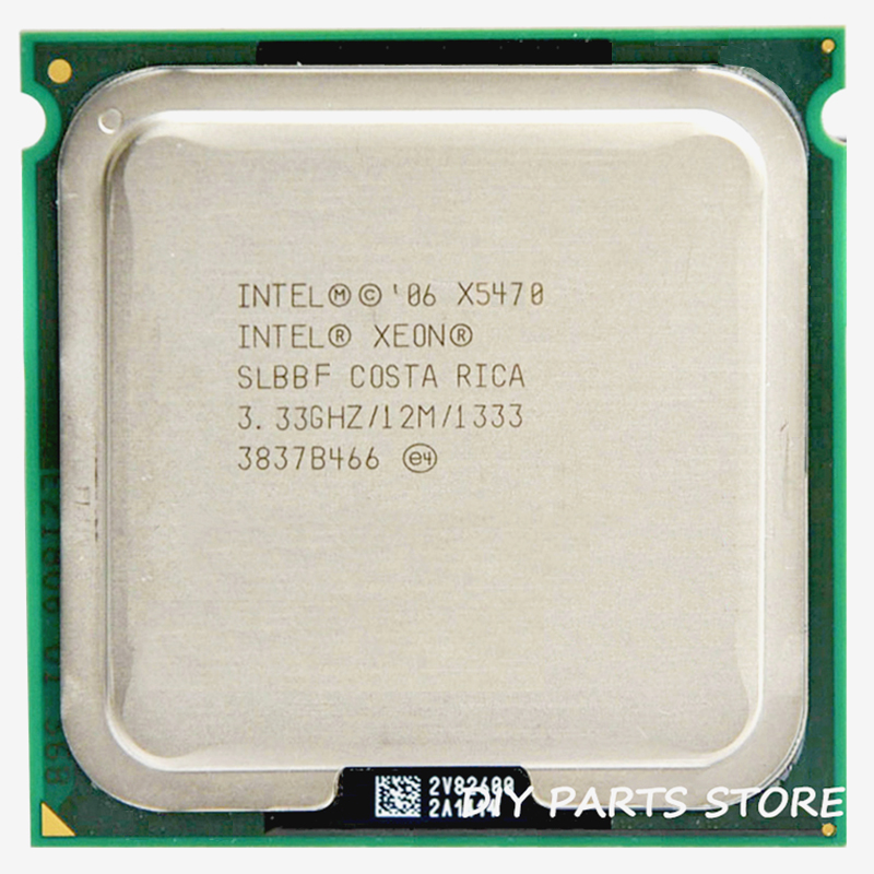 INTEL XONE X5470 cpu INTEL X5470 PROCESSOR quad core 3.3MHZ LeveL2 12M  Work on 775 with 2pcs adaperts