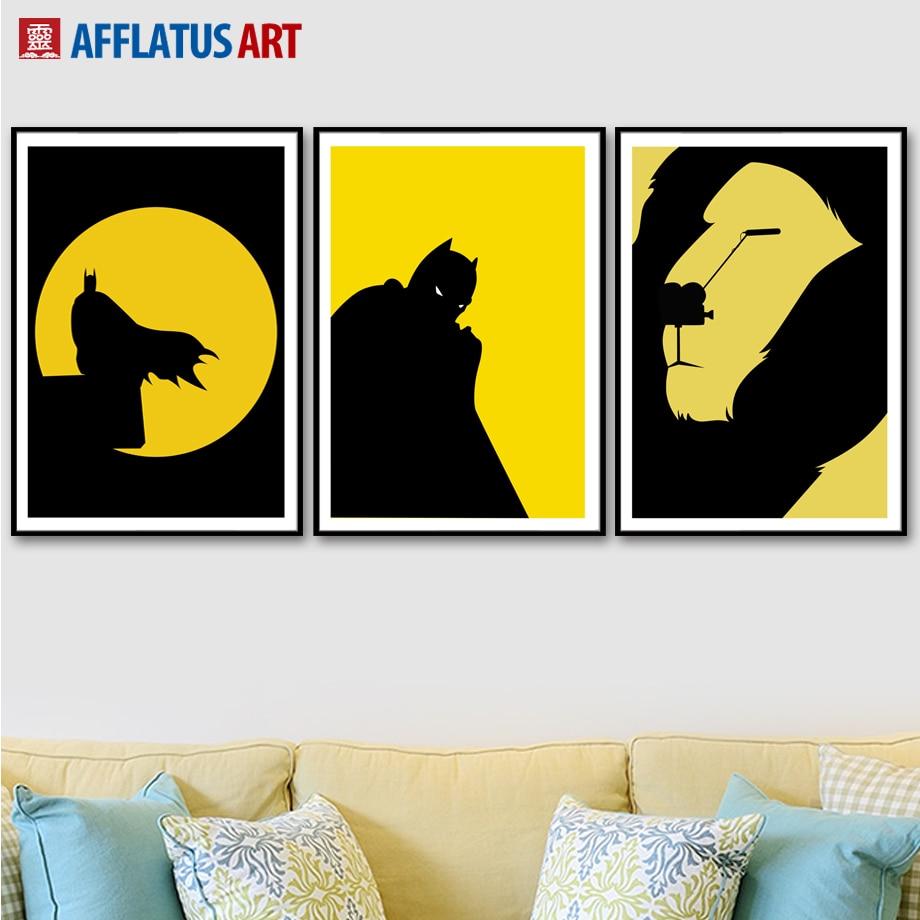 AFFLATUS Superhero Batman Simba Wall Art Print Canvas Painting ...