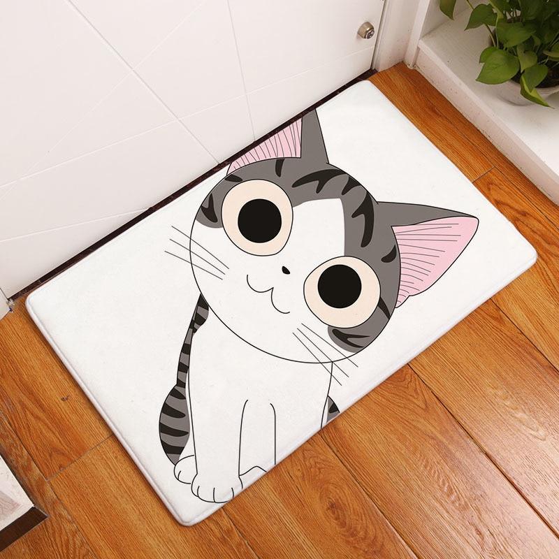 Мягкий коврик для ванной, милый домашний коврик с рисунком кота, коврики для ванной комнаты, коврики для кухни, гостиной, впитывающие Противоскользящие коврики - Цвет: 2