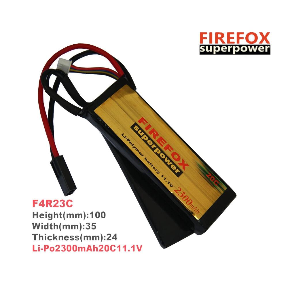 1pcs 100% Orginal FireFox 11.1V 2300mAh 20C 2 cell Li Po AEG Airsoft Battery F4R23C аккумулятор li po 11 1 вольт firefox в туле