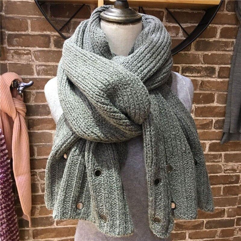 Business Soft Jacquard Lattice Knit Thick Winter Cashmere Like Acrylic Scarf