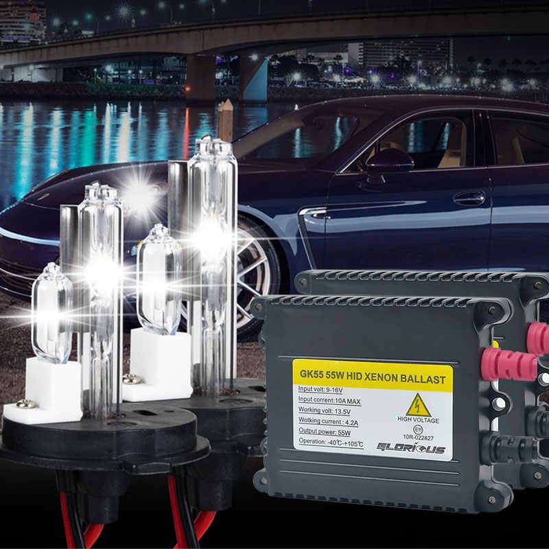 AC 55W H4 XNEON HID KIT H4 With Halogen Lamp xenon kit 4300k 5000k 6000k 8000k HID Conversion Kit H4-2 Xenon Bulb
