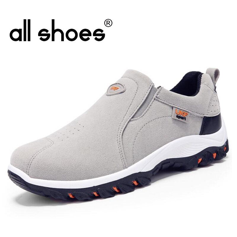 New Autumn Men Mountain Sneakers Slip On shoes Male Suede Leather Trekking Hiking Shoes Outdoor Sneakers Hiking Shoes HB-18Z 3