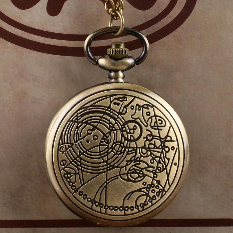 Retro Bronze Doctor Who Theme Fashion Quartz Pocket Watch Men Women Gift Relogio De Bolso
