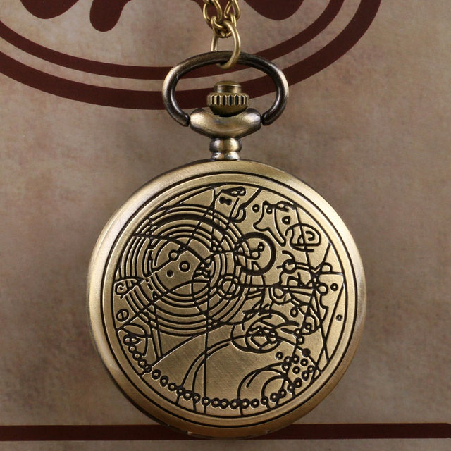 8fb6f5bdea8 Retro Bronze Doctor Who Theme Fashion Quartz Pocket Watch Men Women Gift  Relogio De Bolso