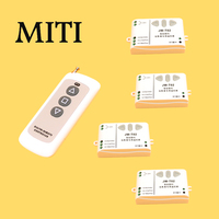 Ac 220 V Intelligent Digital RF Wireless Remote Control Switch System For Projection Screen 4 Receivers