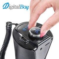 Digitalboy fmトランスミッター車のmp3プレーヤーワイヤレスbluetoothハンズフリー車キットデュアルusb車の充電器プレイtf uディスクaux音楽