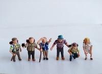 super mini 1:87 pvc figure doll ornaments 6pcs/set