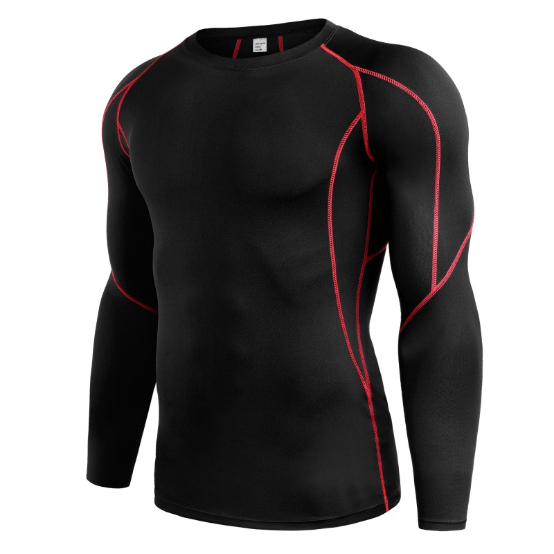 Compression Shirt Men Fashion Print Breathable Quick Dry T Shirt Fitness Skin Tights Gyms Bodybuilding T Shirt Sportswear