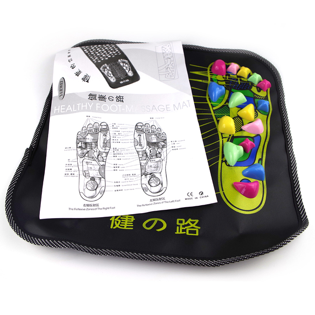34x34cm Reflexology Walk Cobblestone Pain Relief Foot Massager