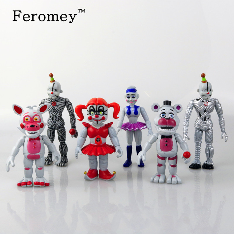 New Arrival Five Nights At Freddy's Action Figure Toy Foxy Freddy Fazbear Bear FNAF PVC Figures Toy Children Kids Christmas Gift 48pcs lot action figures toy stikeez sucker kids silicon toys minifigures capsule children gift