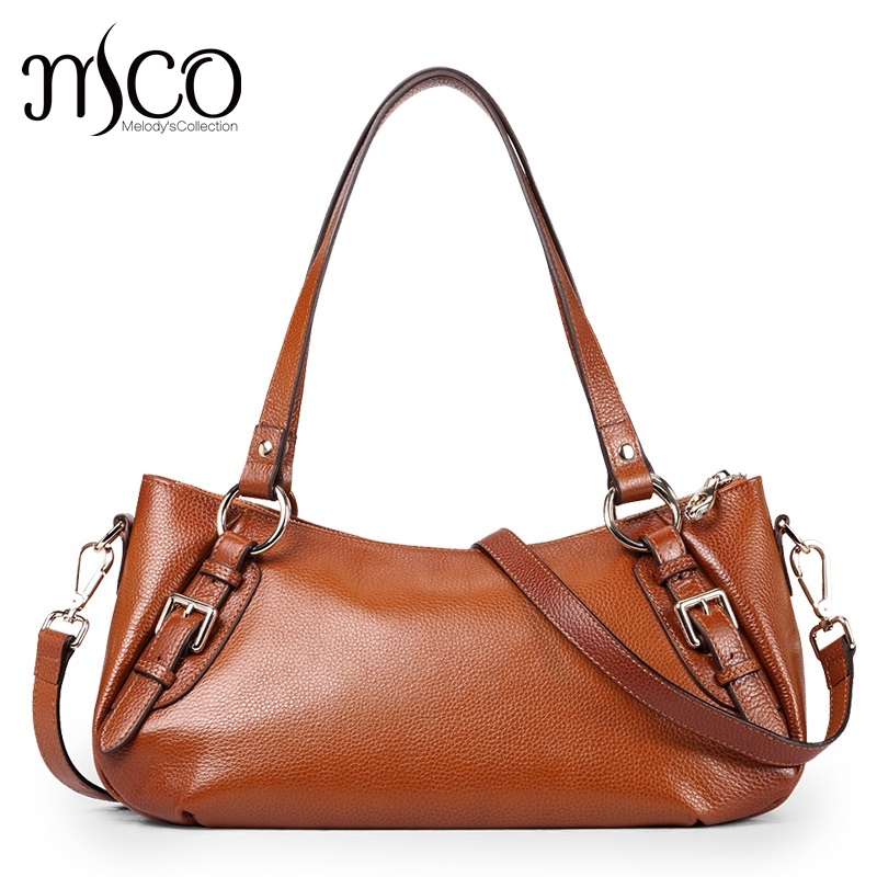 Women Shoulder Bags Female Hand Bag Genuine Leather Tote Bag Vintage Hobo Style Brown Cow Leather Designer Handbags High Quality недорого