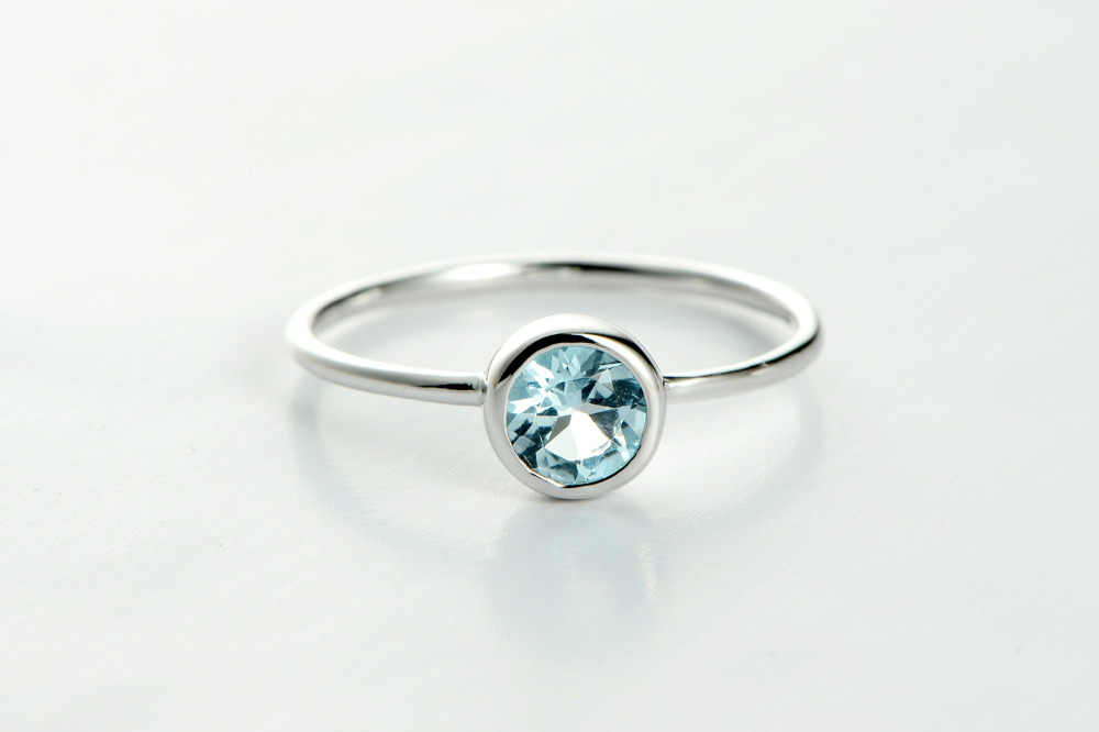 DORMITH จริง 925 เงินสเตอร์ลิงแหวน blue topaz แหวนพลอยแหวนเครื่องประดับแหวน