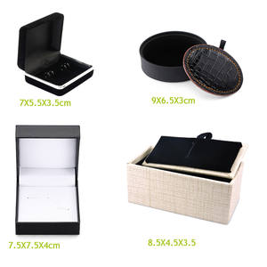 High quality fashion boutique brand jewelry Cufflinks necktie gift box new high-end men's shirt cuff button tie box