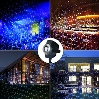 Christmas Decoration LED Moving Waterproof Snowflake Projector DJ Stage Light for Home Xmas Garden Outdoor Landscape
