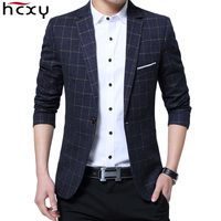 HCXY 2017 Autumn Brand Clothing Blazer Men Casual Blazer Cotton Parka Men S Suit Jackets Male