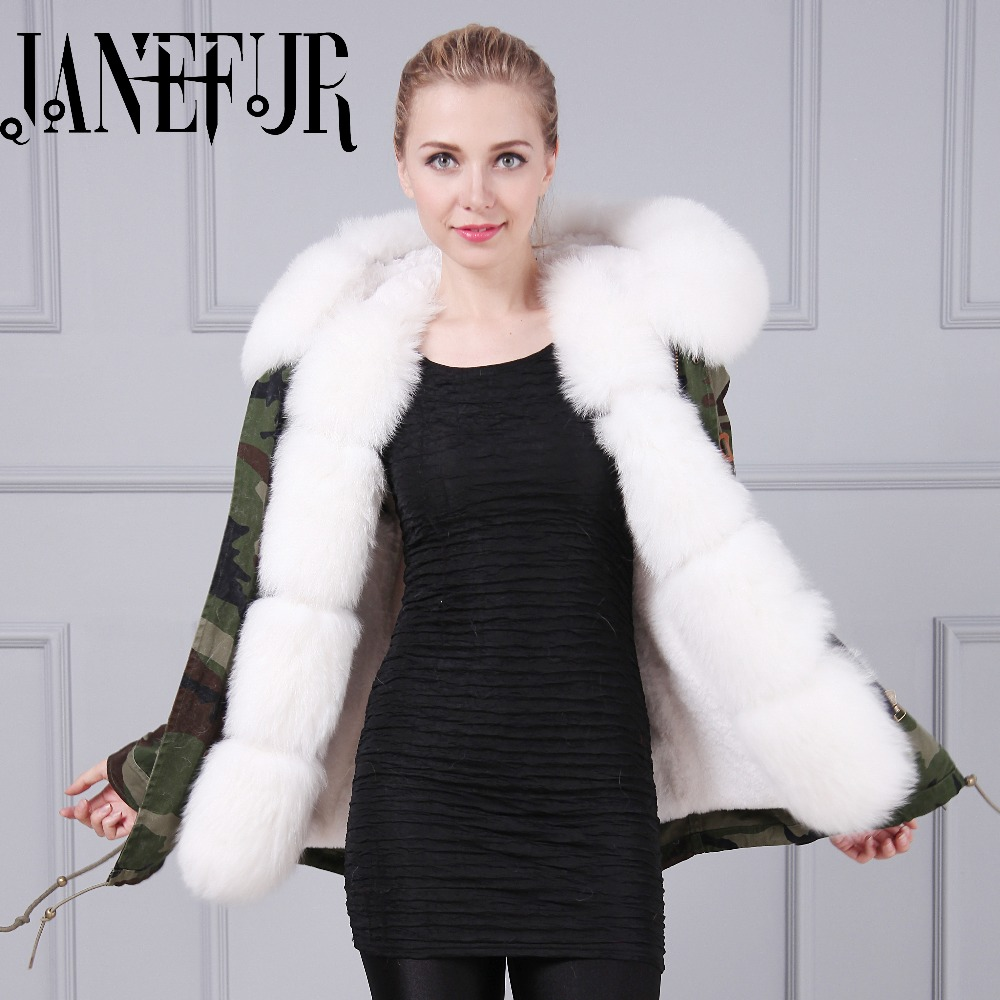 Parkas For Women Winter Camouflage Wadded Coat Large Fur Collar Thickening Cotton Padded Jacket Outerwear Female Snow Wear Brand 2015 winter jacket women cotton padded jacket women fur collar ladies winter coat thickening outerwear long denim parkas h4451