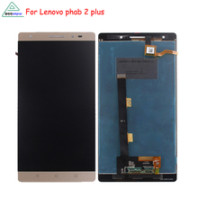 цена на Phone Parts For Lenovo phab 2 plus LCD Display Touch Screen Assembly For Lenovo phab 2 plus Screen LCD Display Free Tools