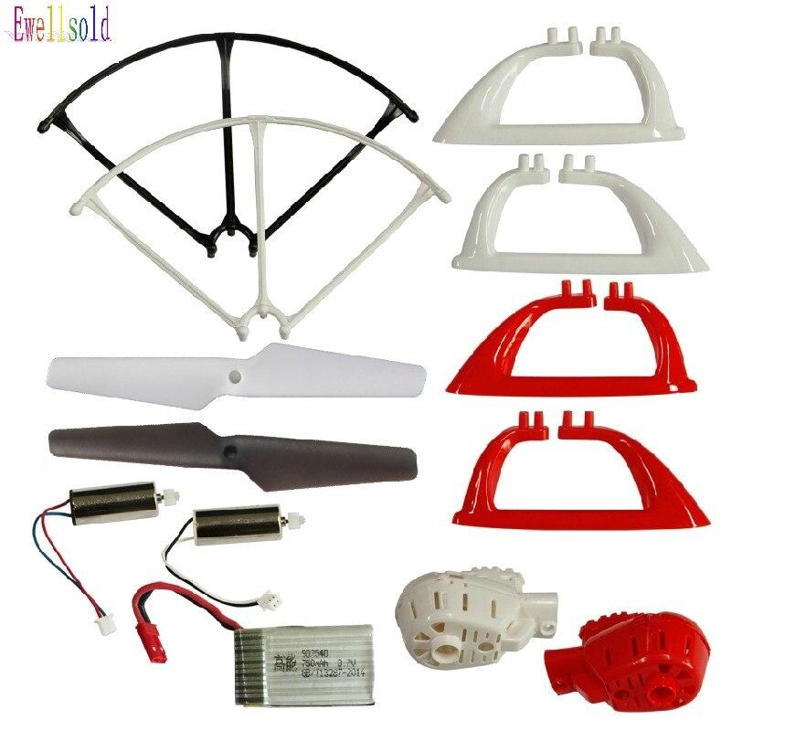 free shipping MJX x400 2.4G 4ch 6 Axis RC Quadcopter RC drone parts propeller*4pcs+motor*2pcs+battery*1pc+ landing gear*2pcs