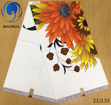 LIULANZHI White Printing wax fabric 100%cotton african Java wax fabric High quality ankara real wax for dress 21J132-21J149 ankara fabric african real wax print 100% cotton 6yard lot african fabric wax high quality ankara real java wax ccotton 1403 1
