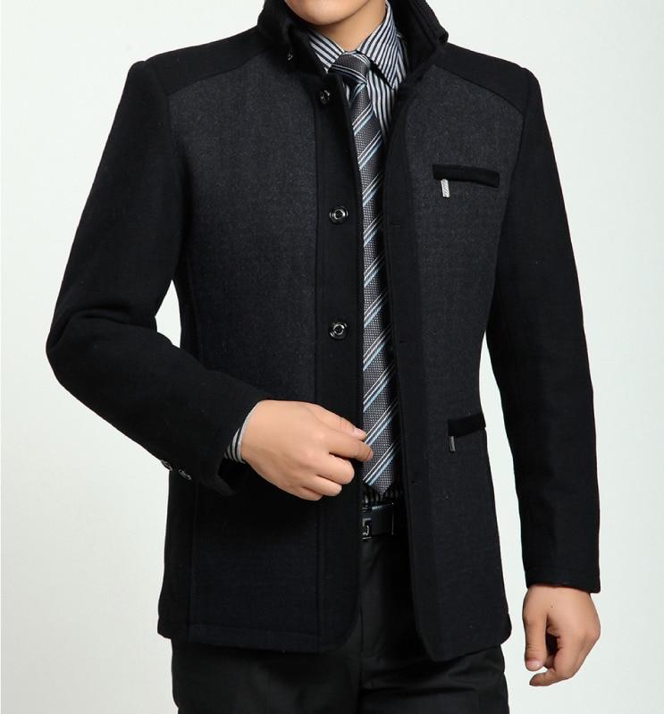 fc1d260075 2017 Winter High Quality Men S Woolen Coats Business Casual Overcoat
