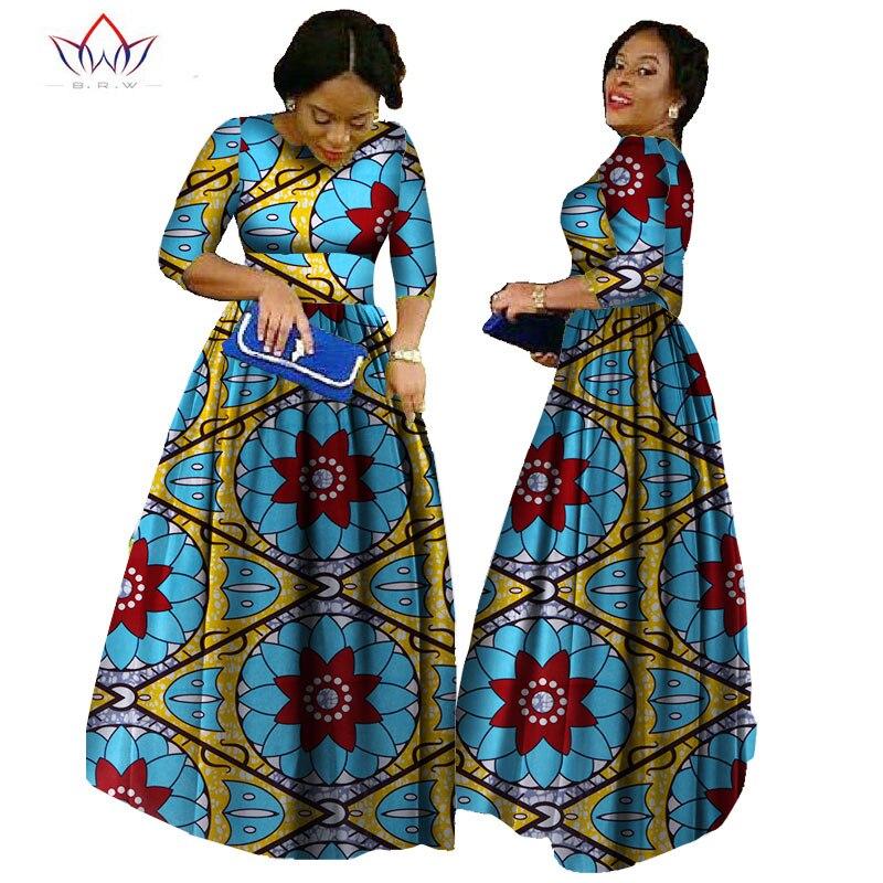 Afrika qadınlar üçün 2019 african bazin paltar african uzun - Qadın geyimi - Fotoqrafiya 4