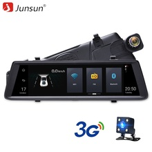 Junsun Car DVR Camera Mirror 3G 10″ Full Touch Android 5.0 Quad-core GPS 16GB WiFi Video Recorder Dual lens Registrar dash cam