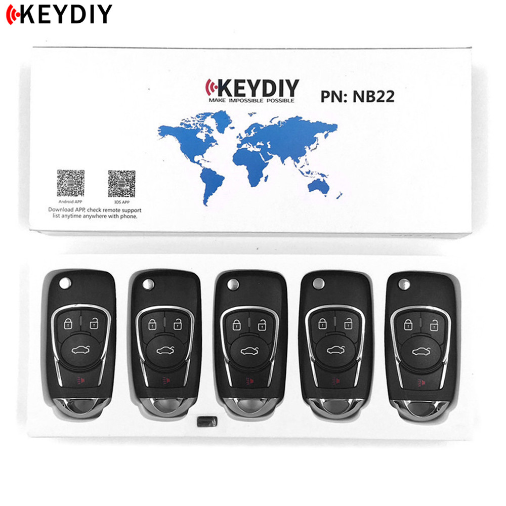 5pcs,KEYDIY Original KD900/KD X2 Key Programmer NB22 3/4 Universal Multi functional Remote Control for All B and NB Series Key-in Car Key from Automobiles & Motorcycles    1