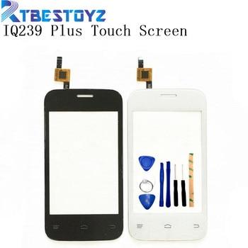 RTBESTOYZ teléfono móvil Panel de cristal frontal lente reemplazo pantalla táctil para Fly IQ239 + IQ239plus pantalla táctil